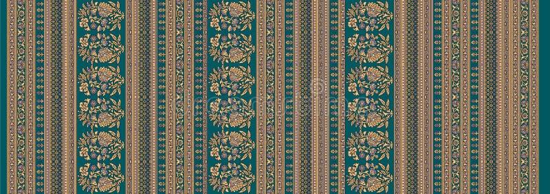 Naadloze traditionele ontwerp bloemenachtergrond stock illustratie