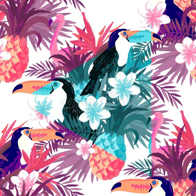 Naadloze Tropische Abstracte Achtergrond vector illustratie