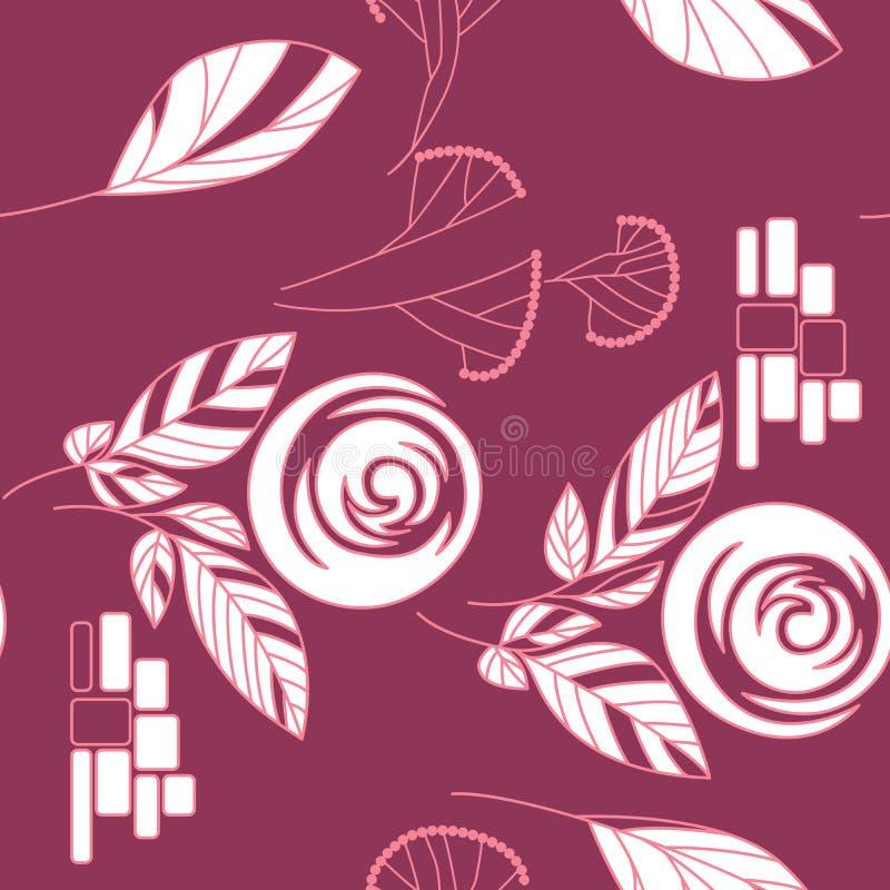 Naadloze uitstekend nam patroonachtergrond toe vector illustratie