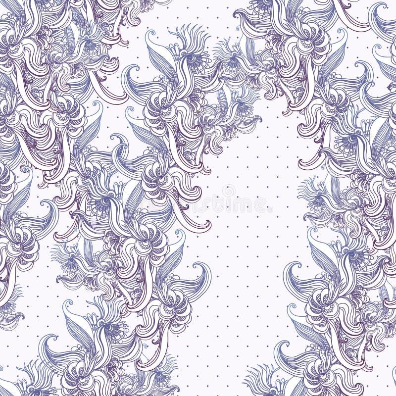 Naadloze uitstekende achtergrond, barok patroon royalty-vrije illustratie