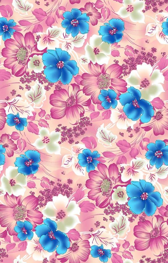 Naadloze uitstekende bloemenbloemachtergrond vector illustratie