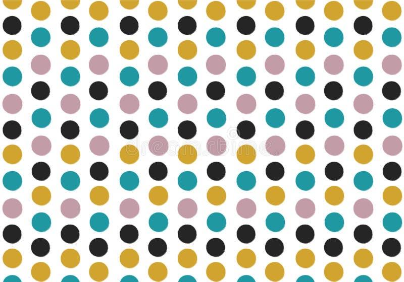 Naadloze uitstekende kleurentoon om de illustratievector van het puntpatroon stock foto