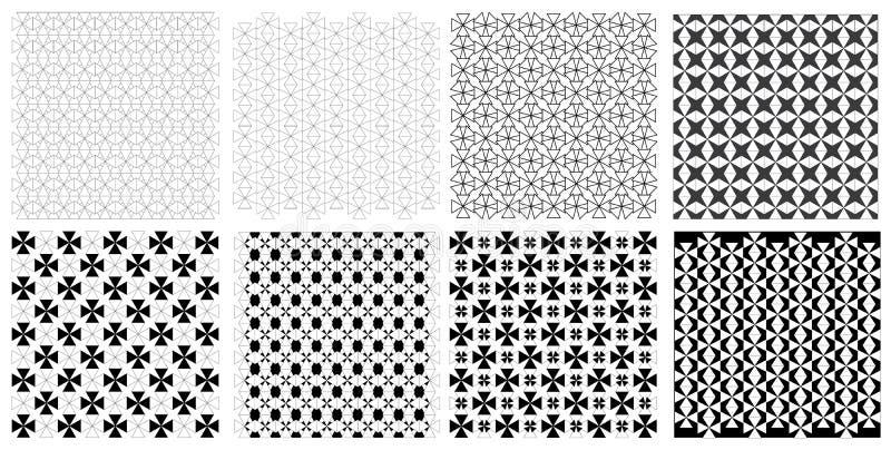 Naadloze uitstekende retro de illustratie vectorreeks van het driehoekspatroon stock foto's