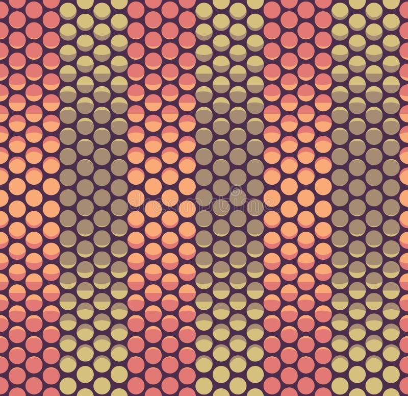 Naadloze van de de maanfase van de aardetoon abstracte gewaagde halftone vector het patroonachtergrond Het ontwerp van het opperv royalty-vrije illustratie