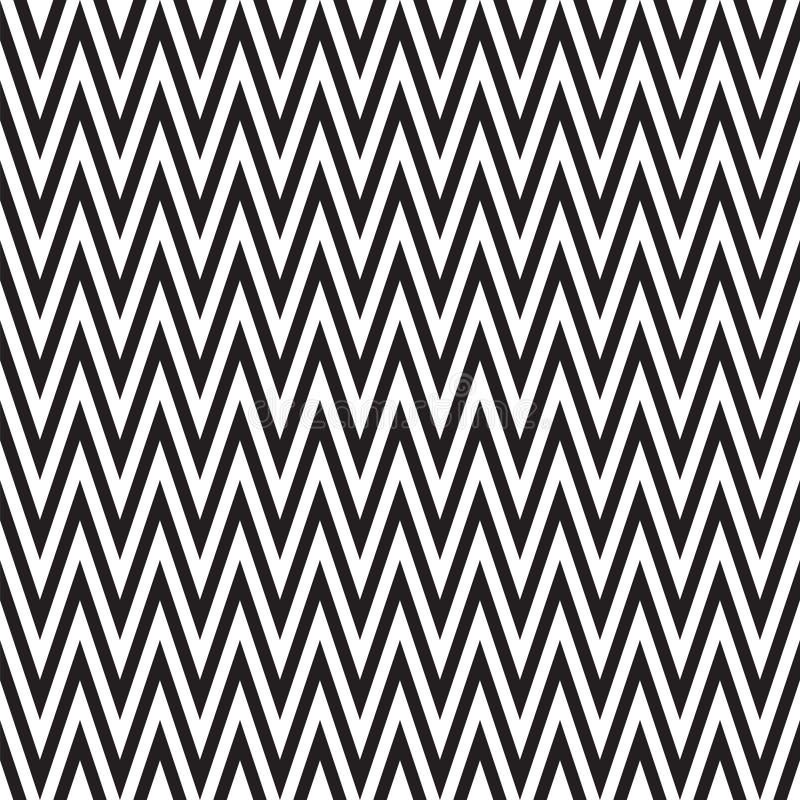 Naadloze van het chevronpatroon textuur als achtergrond in zwart-wit Retro uitstekend vectorontwerp royalty-vrije illustratie