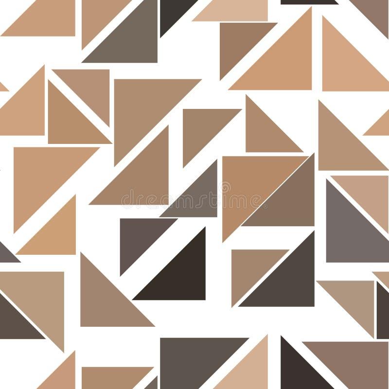 Naadloze van het de lijnen geometrische patroon van de kleuren abstracte driehoek generatieve de kunstachtergrond Dekking, vector royalty-vrije illustratie