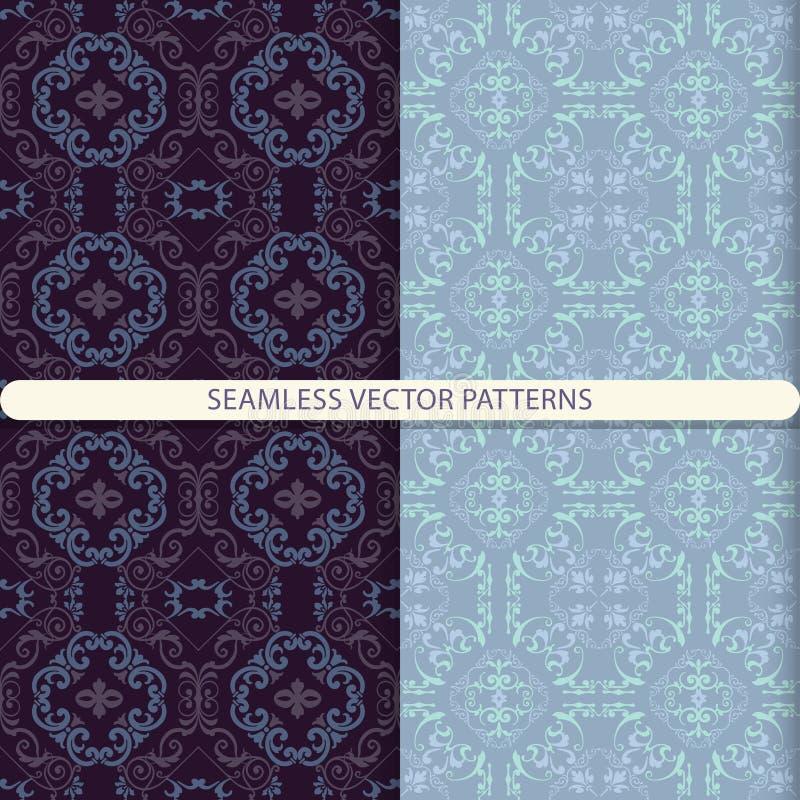 Naadloze vector abstracte patronen met sierpatroon Oosters patroon Arabisch patroon Naadloos patroon Druk voor tegels Prin royalty-vrije illustratie