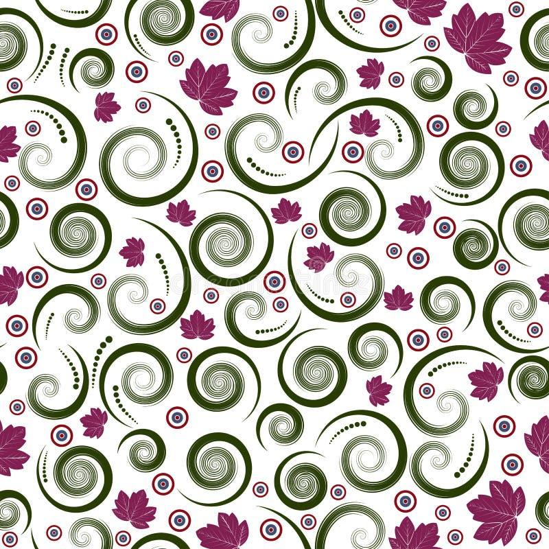 Naadloze vector bloemen van de herfst royalty-vrije illustratie