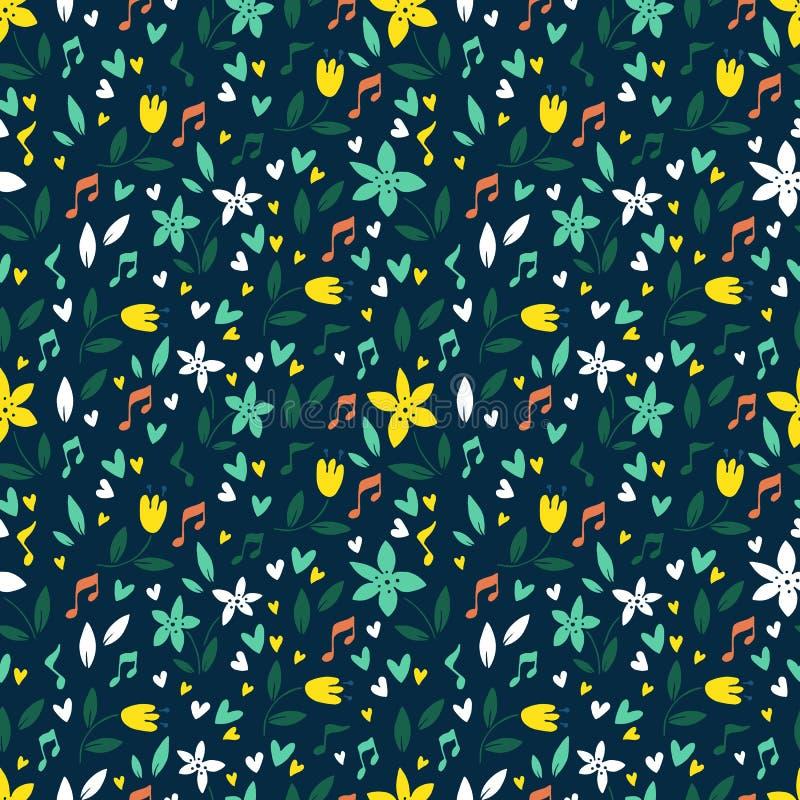 Naadloze vector bloemenpatronen, de lente en de zomerachtergrond vector illustratie