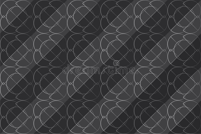 Naadloze vector geometrische lijn royalty-vrije stock fotografie