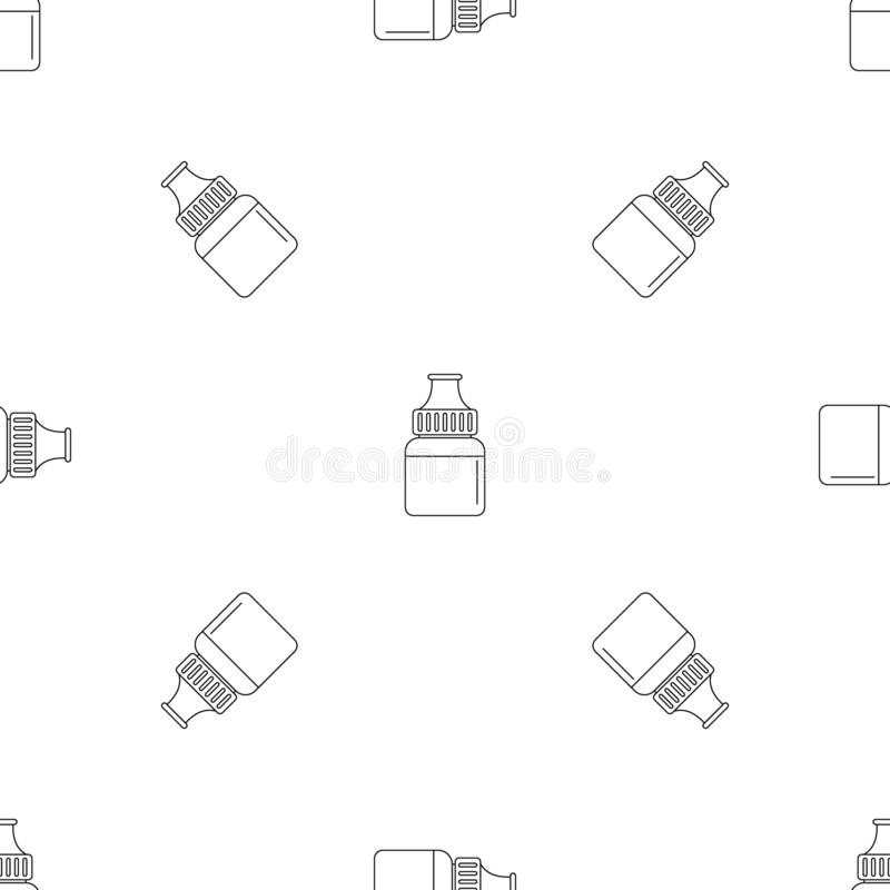 Naadloze vector van het fruit vape de vloeibare patroon royalty-vrije illustratie