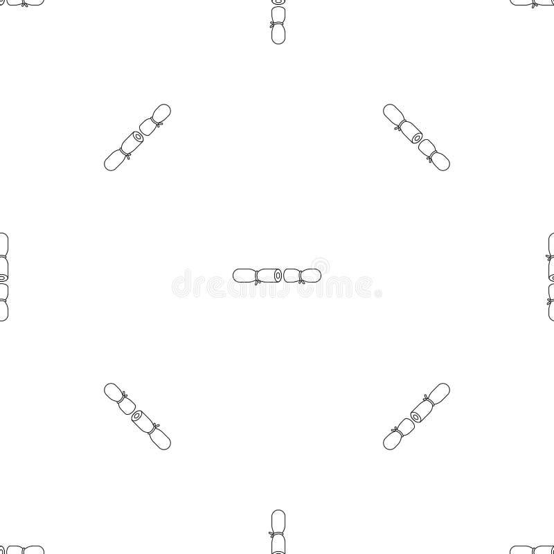 Naadloze vector van het strook de contraceptieve patroon vector illustratie