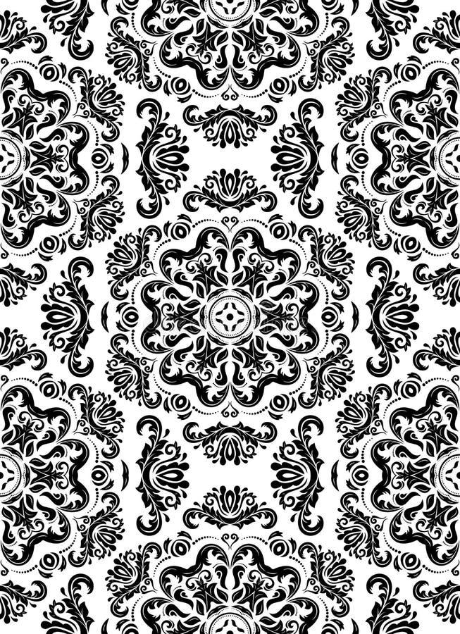 Naadloze Vector Zwart-witte Achtergrond stock illustratie