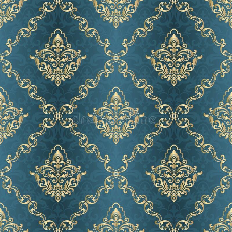 Naadloze vectorachtergrond Uitstekend siermalplaatje met patroon Islam, Arabisch Turks, Het damast Wallpaper stock illustratie