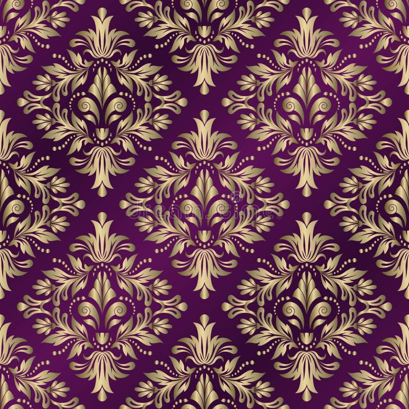 Naadloze vectorachtergrond Uitstekend siermalplaatje met patroon Islam, Arabische Indi?r, Het damast Wallpaper stock illustratie