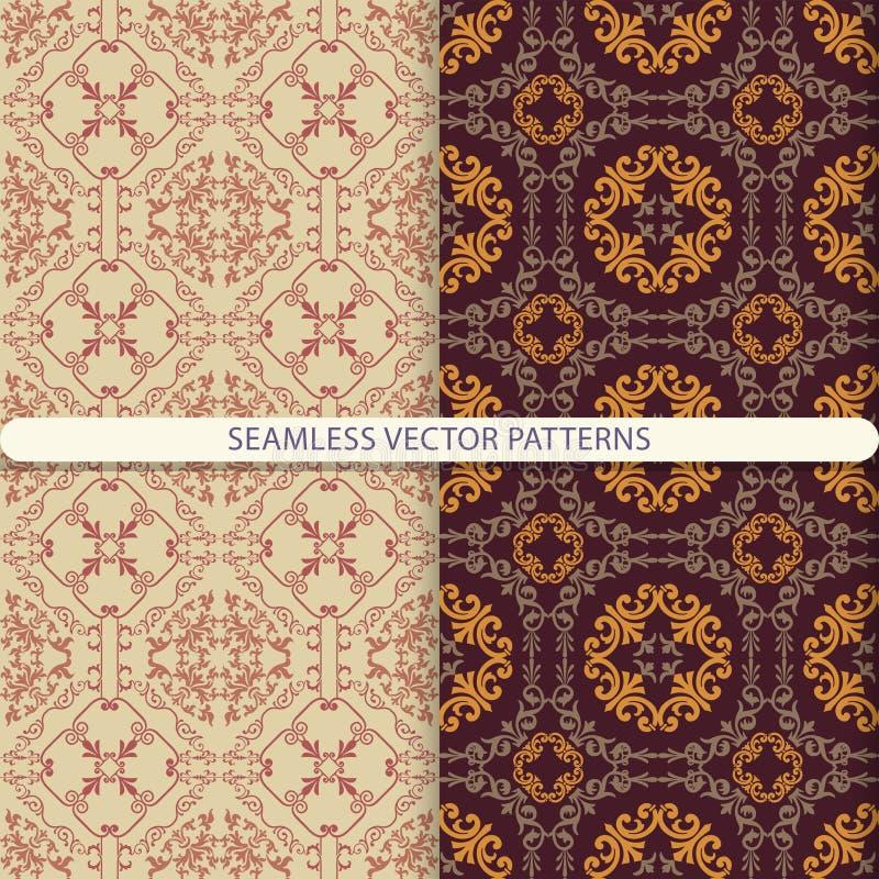 Naadloze VectorPatronen Druk voor textiel, stock illustratie