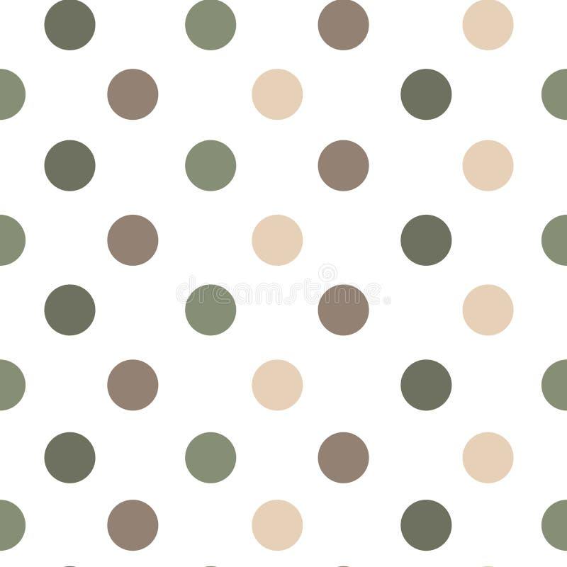 Naadloze vectorpatroon of textuur met stippen op witte achtergrond royalty-vrije illustratie