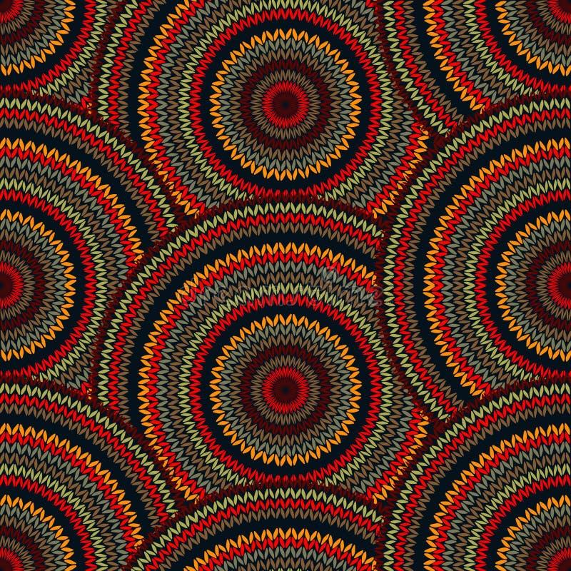 Naadloze Veelkleurige Etnische Geometrische Gebreide Patte royalty-vrije illustratie