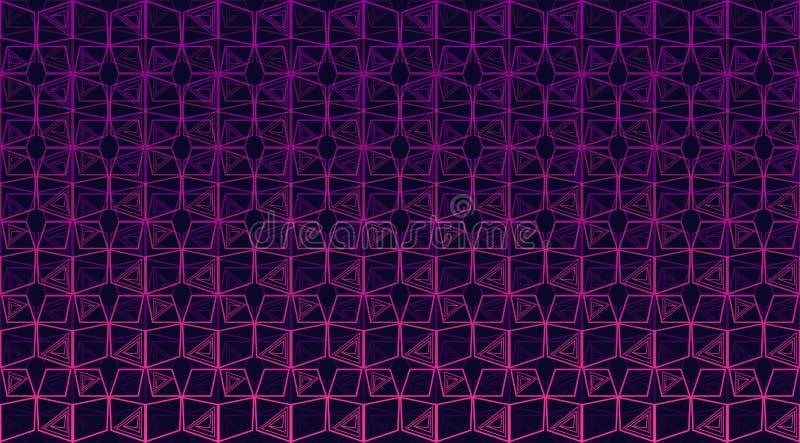 Naadloze veelkleurige geometrische achtergrond stock illustratie