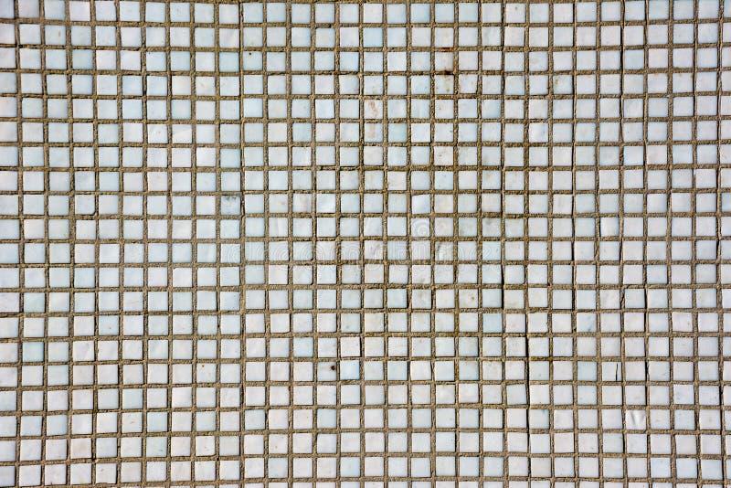 Naadloze witte vierkante tegelstextuur Wit moza?ek stock afbeelding