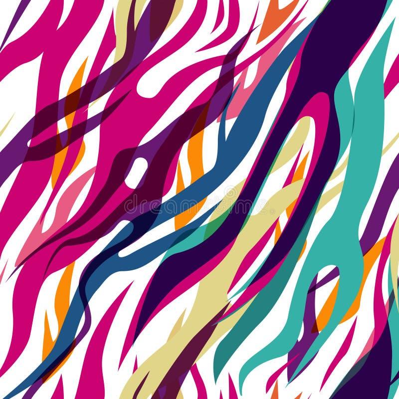 Naadloze zebra vector illustratie