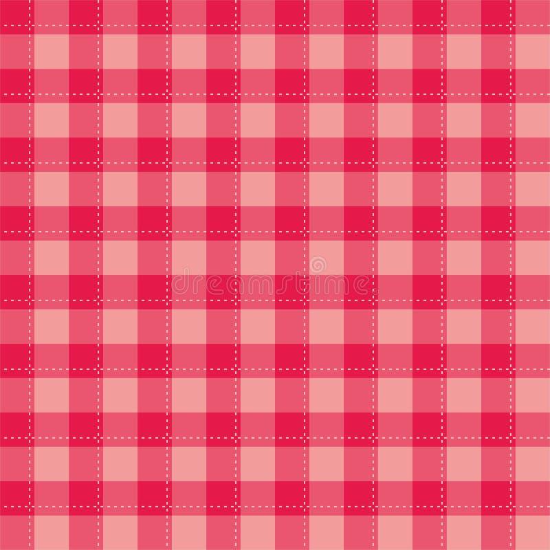 Naadloze zoete roze achtergrond - geruite vectorpatroon of nettextuur voor Webontwerp, Desktopbehang of culinaire blogwebsi vector illustratie