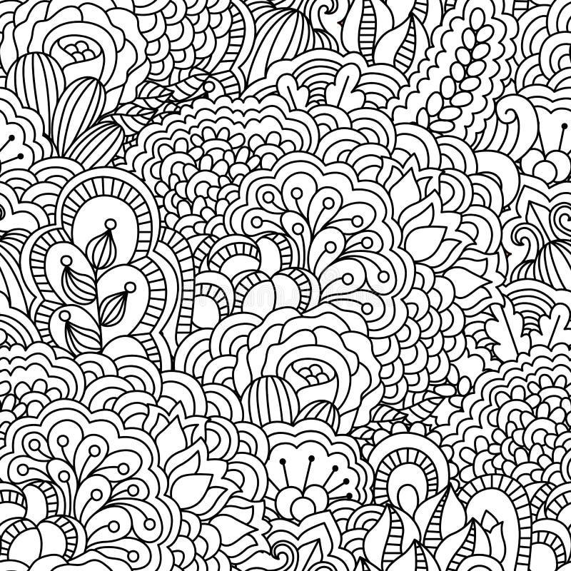 Naadloze zwart-witte achtergrond vector illustratie