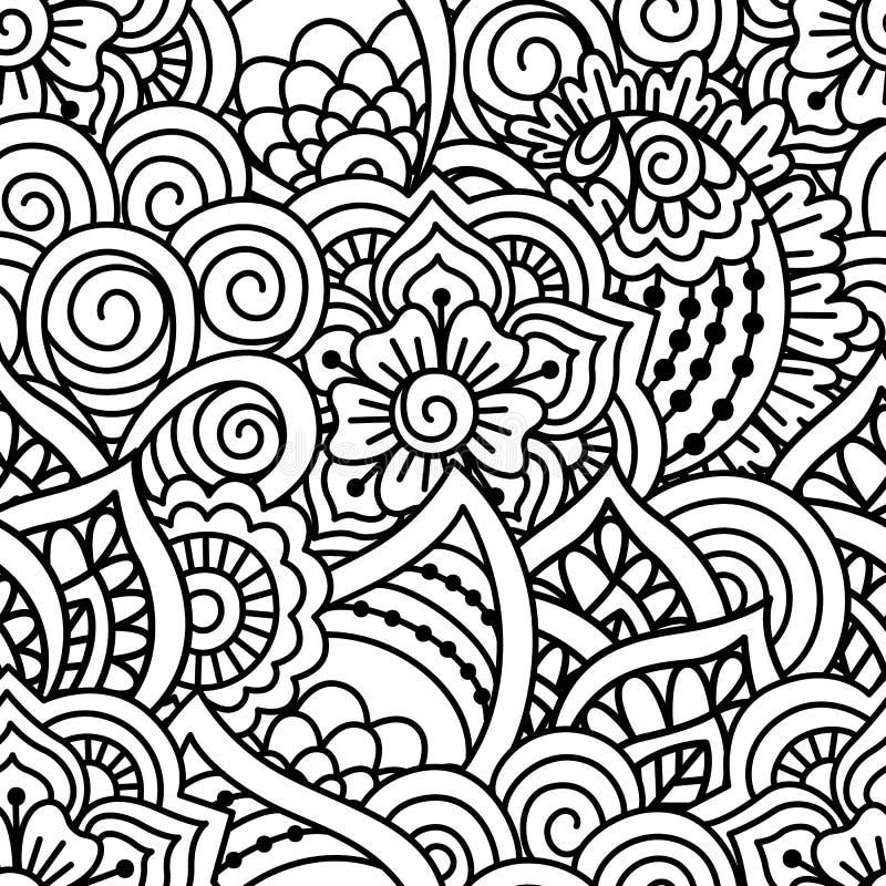 Naadloze zwart witte achtergrond vector illustratie afbeelding 70038127 - Deco slaapkamer ontwerp volwassen ...