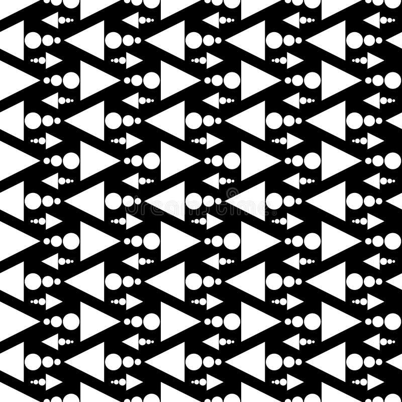 Naadloze zwart-witte driehoekspijlen royalty-vrije illustratie
