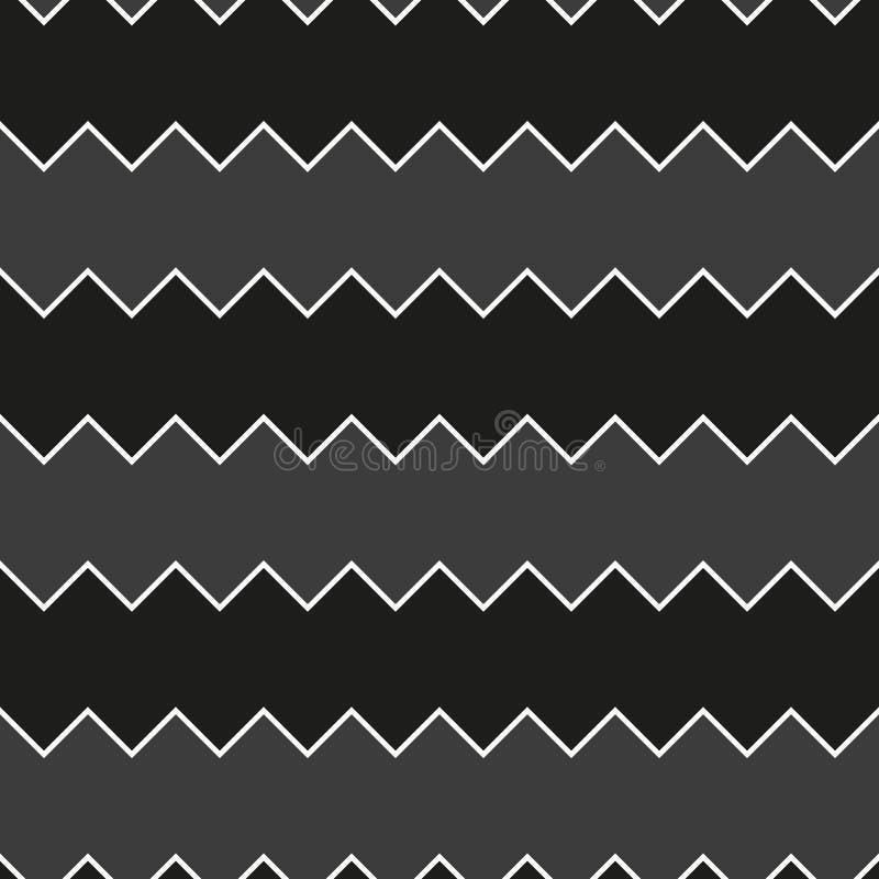 Naadloze zwart-witte het patroonachtergrond van de zaagtandzigzag vector illustratie