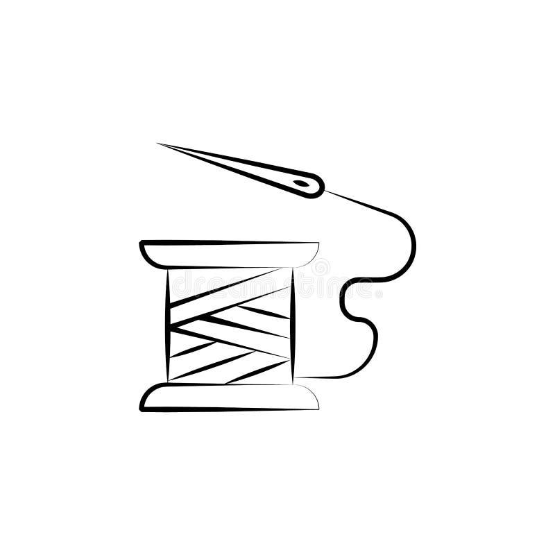 Naaiend, handcraft pictogram Element van kunst en ambachtpictogram Dun lijnpictogram voor websiteontwerp en ontwikkeling, app ont stock illustratie