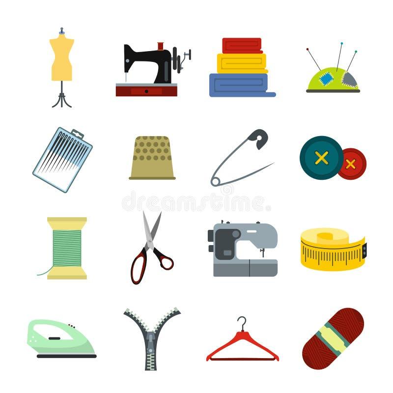 Naaiend vlak pictogram vector illustratie