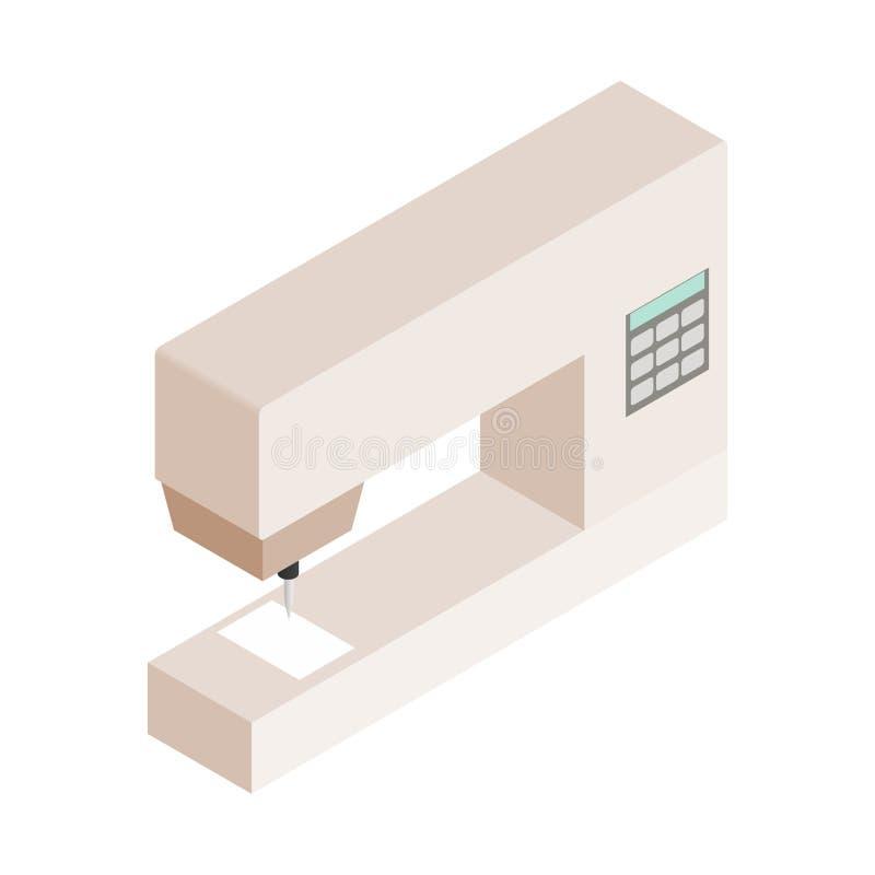 Naaimachine isometrisch 3d pictogram royalty-vrije illustratie