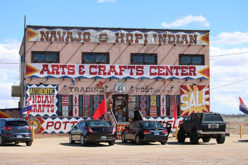 Naajo y Hopi Indian Store imagen de archivo libre de regalías