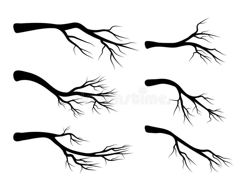 Naakt het pictogramontwerp van het tak vastgesteld vectorsymbool vector illustratie