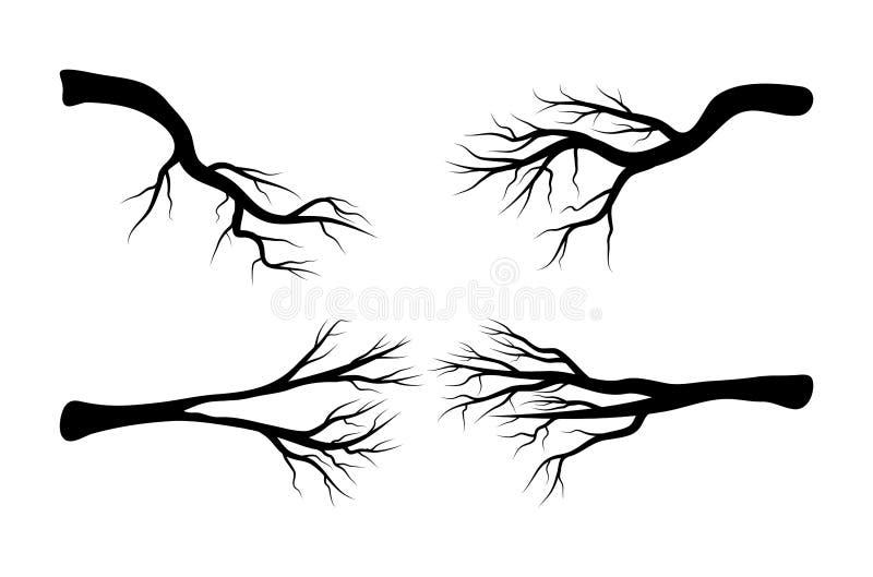 Naakt het pictogramontwerp van het tak vastgesteld vectorsymbool Mooie illustratio stock illustratie