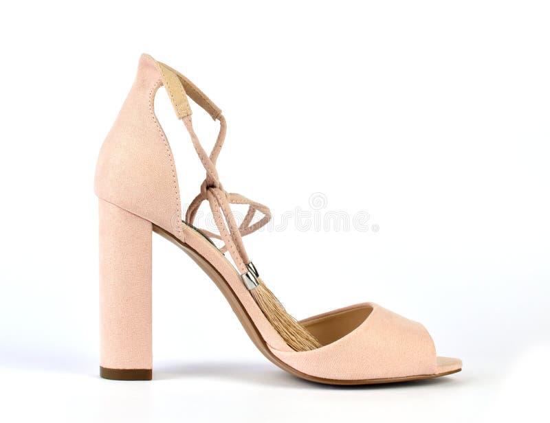 Naakt kijk Roman stijl high-heeled sandelhout stock foto's