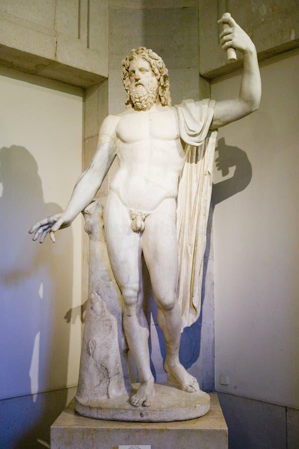 Naakt mannelijk standbeeld in het Museum DE Prado, Prado-Museum, Madrid, Spanje royalty-vrije stock fotografie