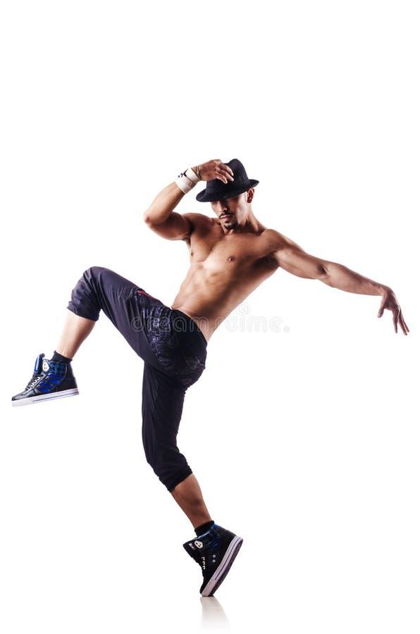 Naakte Geïsoleerde Danser Royalty-vrije Stock Fotografie