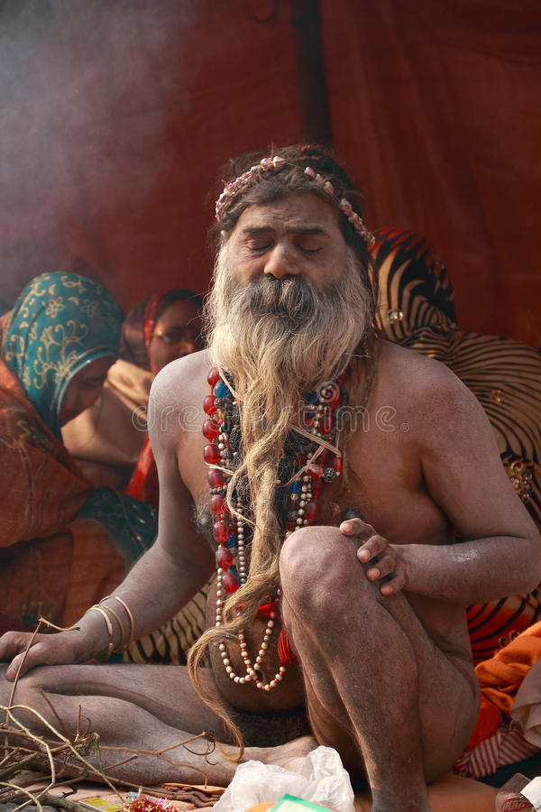 Naakte Heilige, Heilige Mensen van India royalty-vrije stock fotografie