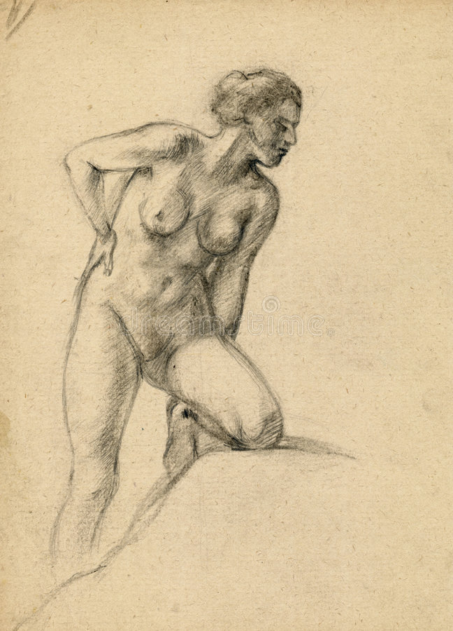 Naakte vrouw vector illustratie