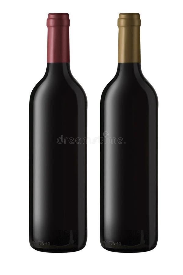 Naakte wijnflessen royalty-vrije stock foto's