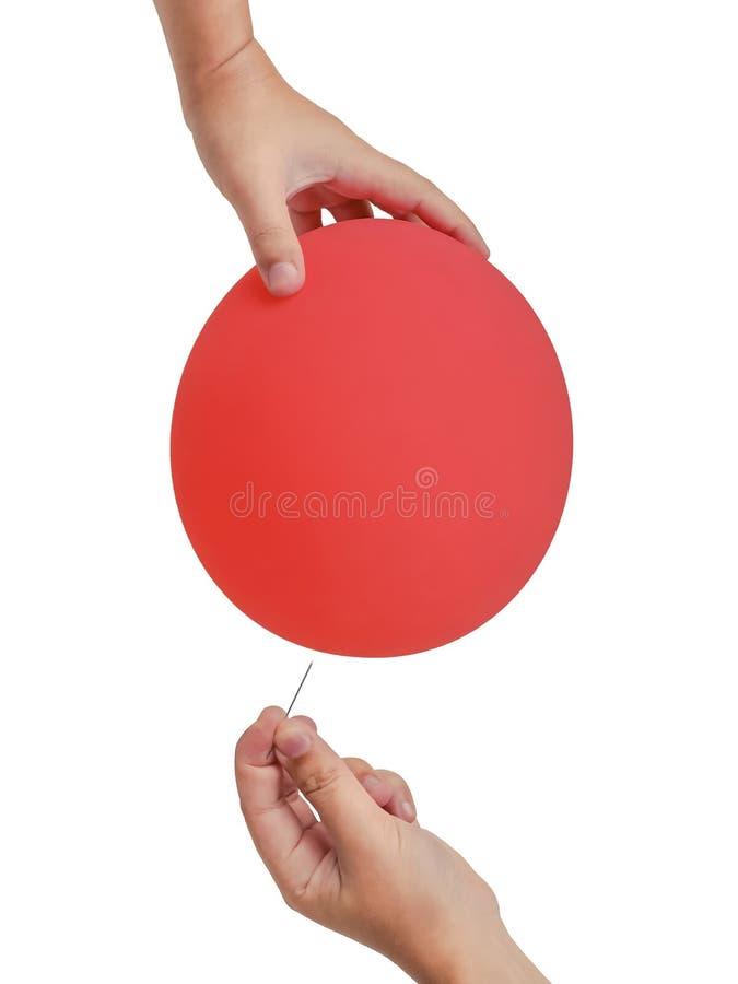 Naald en ballon stock afbeelding