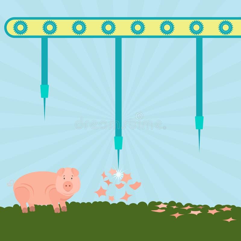Naalden die varkens exploderen royalty-vrije illustratie