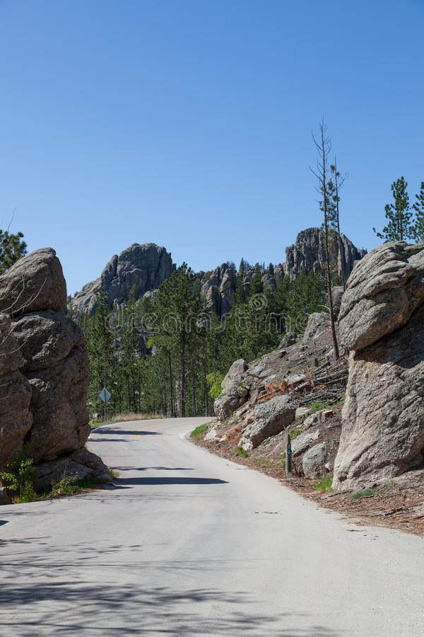 Naaldenweg in Custer State Park royalty-vrije stock afbeelding