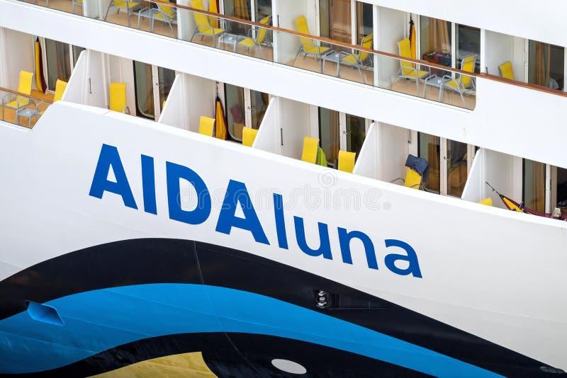 Naam van AIDAluna royalty-vrije stock foto