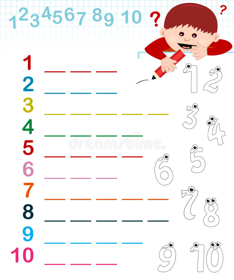 Naam van de aantallen vector illustratie