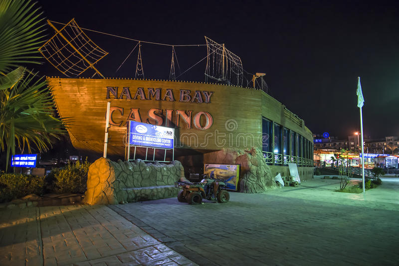Naama bay casino. The casino is located in the center of naama bay, sharm el sheikh in egypt, the image is shot a january evening in 2013 stock image