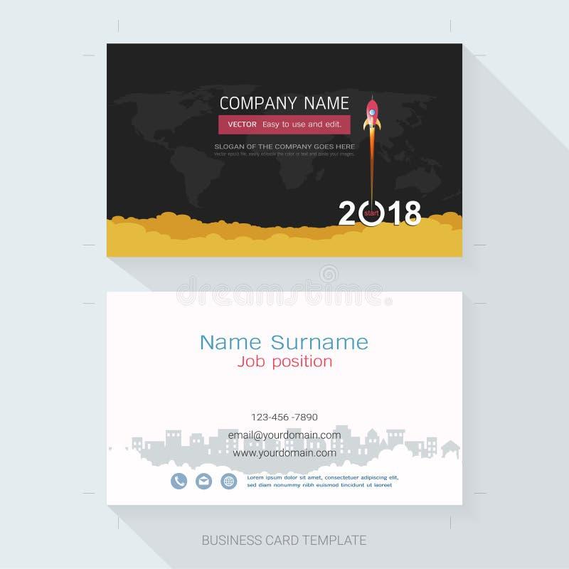Naamkaart of van het adreskaartjeontwerp malplaatje stock illustratie