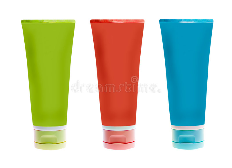 Naamlooze plastic flessen royalty-vrije stock foto's